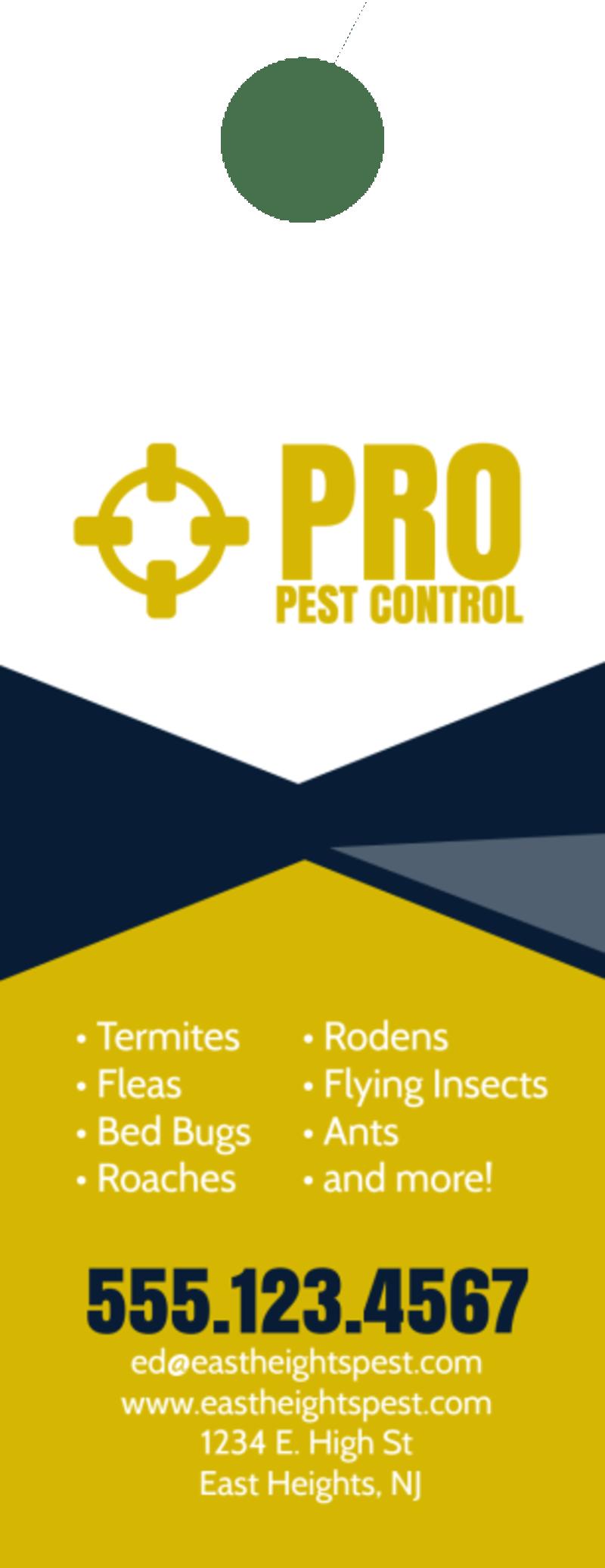 Pro Pest Control Door Hanger Template Preview 3