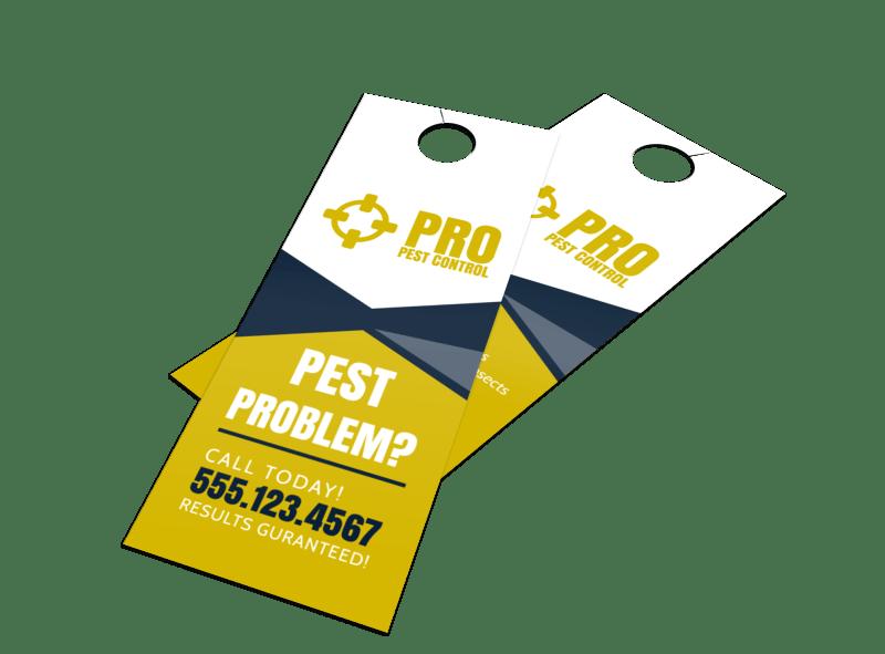 Pro Pest Control Door Hanger Template Preview 1