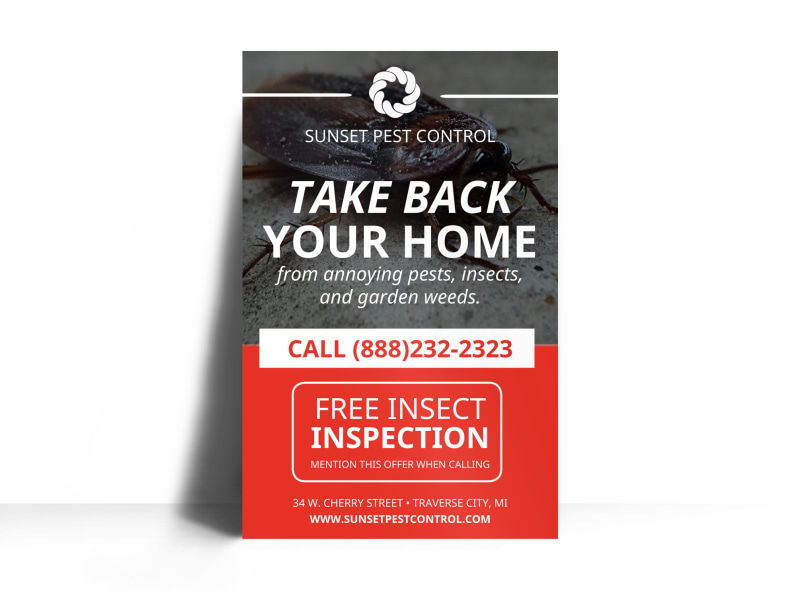 Free Inspection Pest Control Poster Template