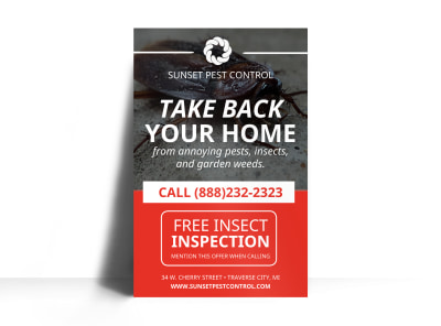 Free Inspection Pest Control Poster Template preview