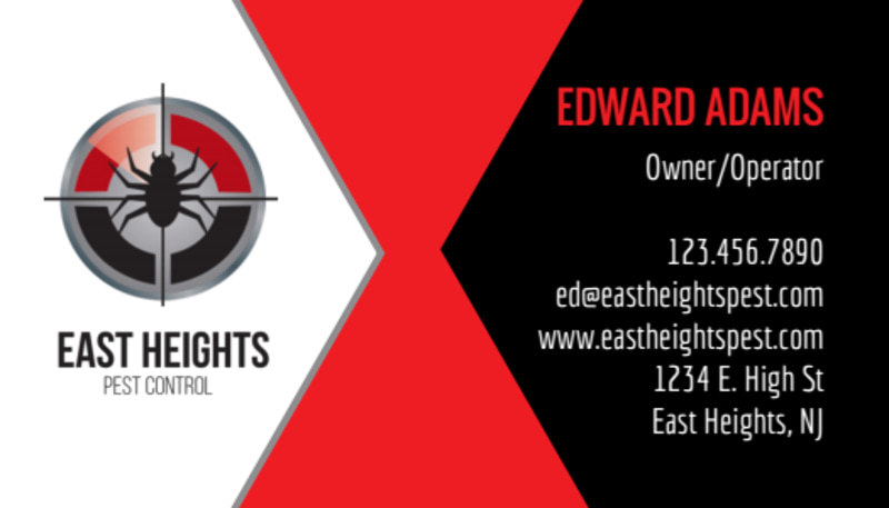 East Heights Pest Control Business Card Template Preview 2