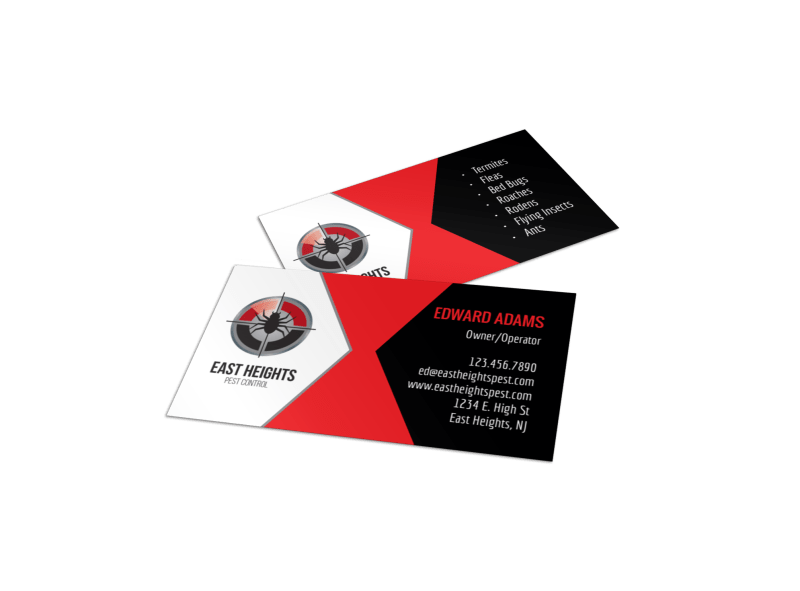 East Heights Pest Control Business Card Template Preview 1