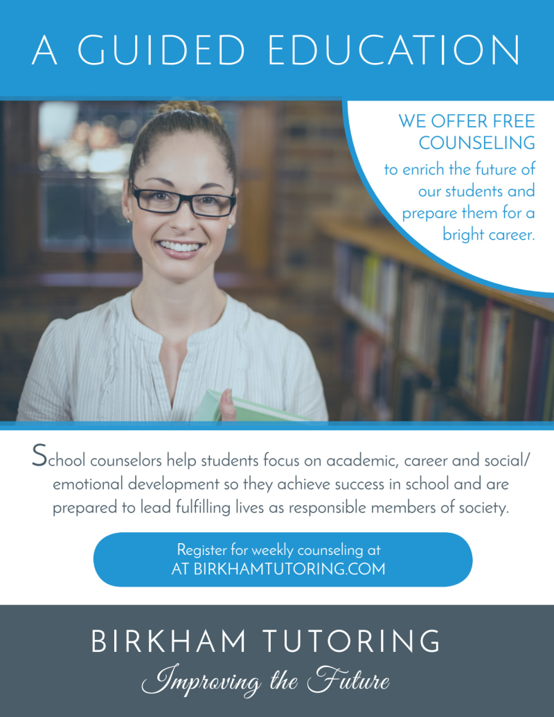 Guided Education School Counseling Flyer Template Preview 2