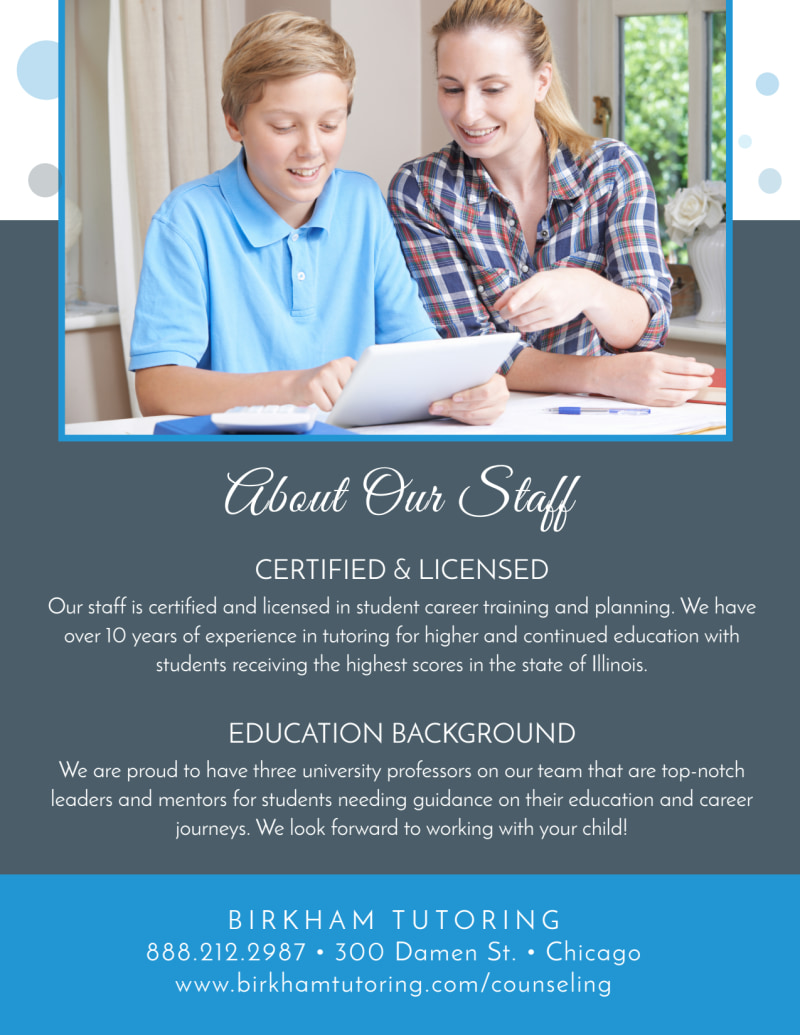 Guided Education School Counseling Flyer Template Preview 3