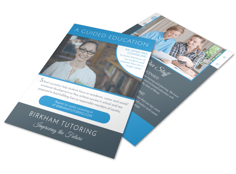 Guided Education School Counseling Flyer Template Preview 1