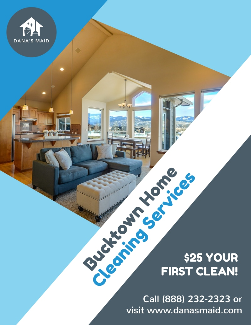 Bucktown Cleaning House Flyer Template Preview 2