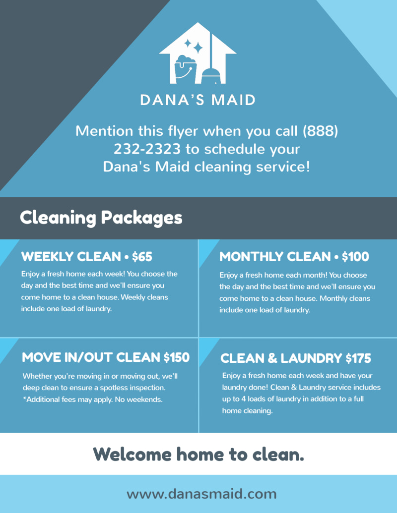 Bucktown Cleaning House Flyer Template Preview 3
