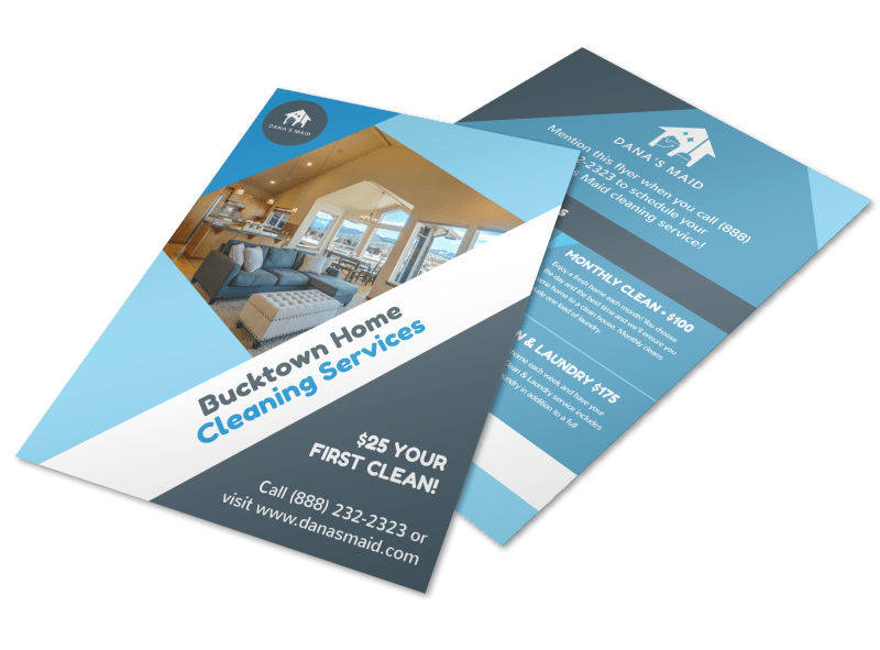 Bucktown Cleaning House Flyer Template Preview 1