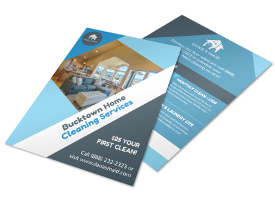 Bucktown Cleaning House Flyer Template preview