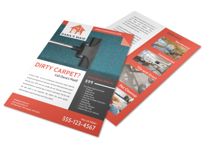 Dana Carpet Cleaning Flyer Template preview