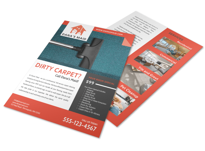 Dana Carpet Cleaning Flyer Template Preview 1