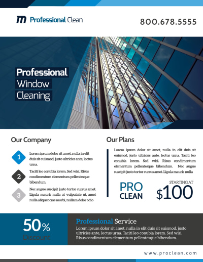 Stunning Window Cleaning Flyer Template Preview 1