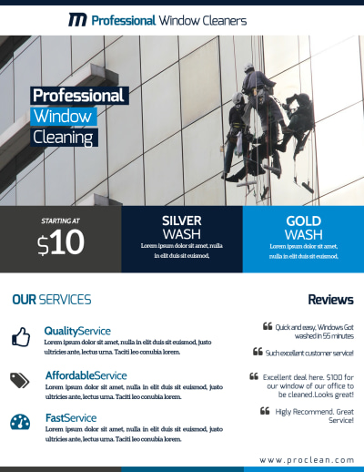 Stunning Window Cleaning Flyer Template Preview 2