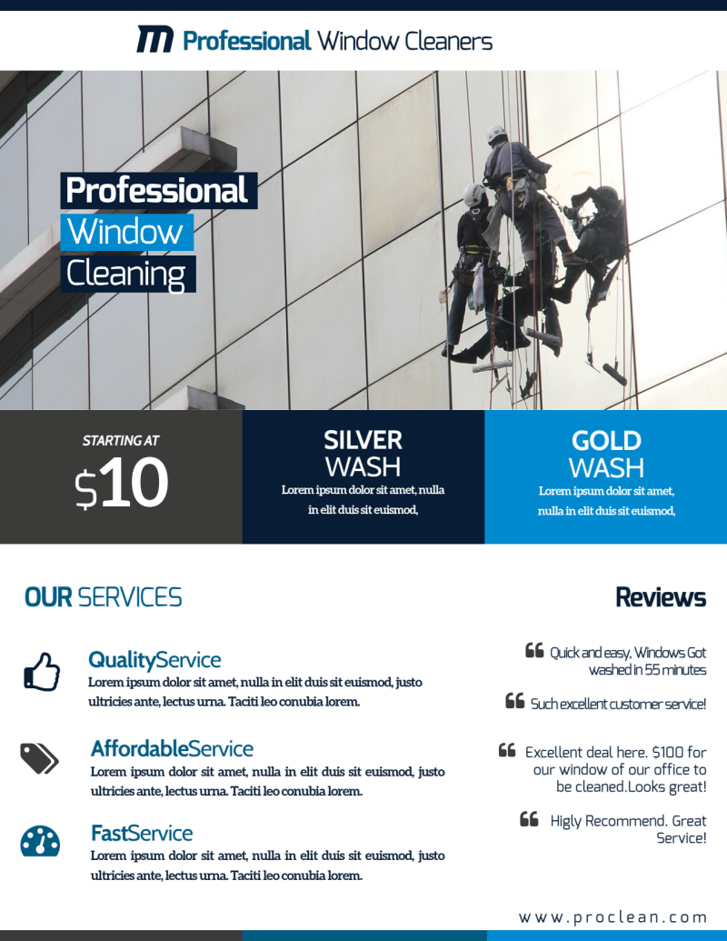 Stunning Window Cleaning Flyer Template Preview 3