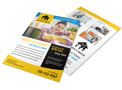 Professional Housekeeping Flyer Template preview