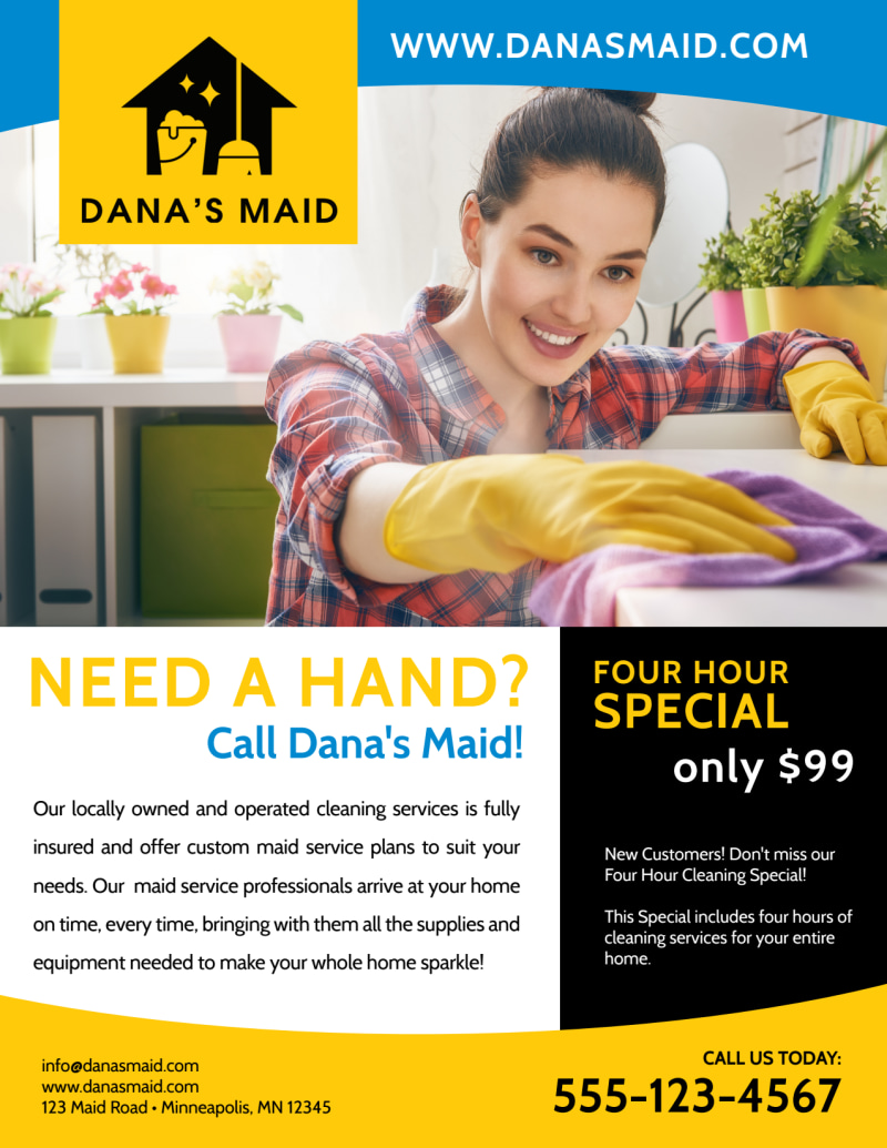 Professional Housekeeping Flyer Template Preview 2