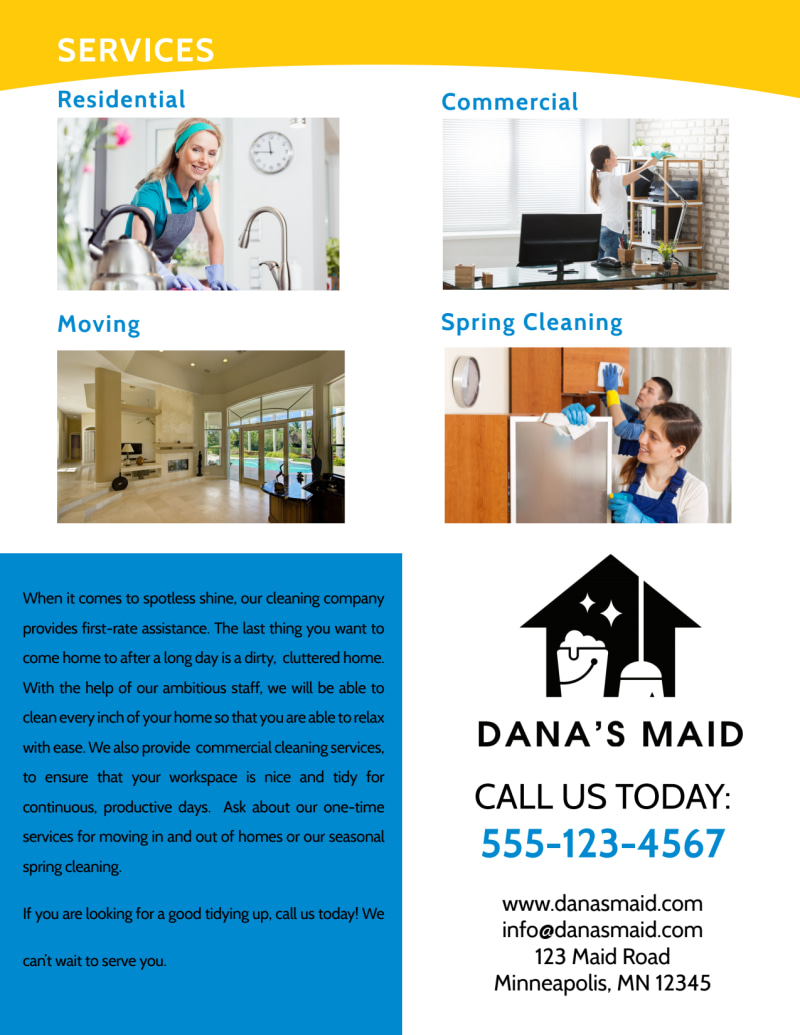 Professional Housekeeping Flyer Template Preview 3