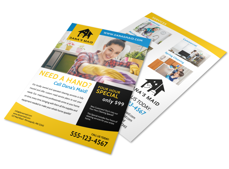 Professional Housekeeping Flyer Template Preview 1