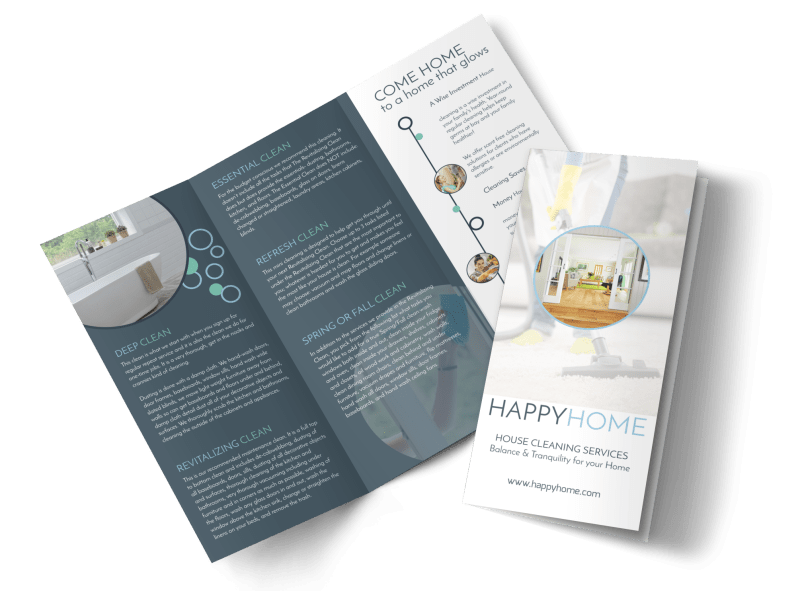 Cleaning House Tri-Fold Brochure Template Preview 1