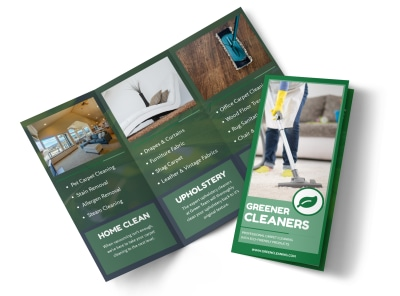 Natural Carpet Cleaners Tri-Fold Brochure Template preview