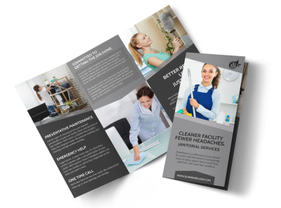Janitorial Tri-Fold Brochure Template preview