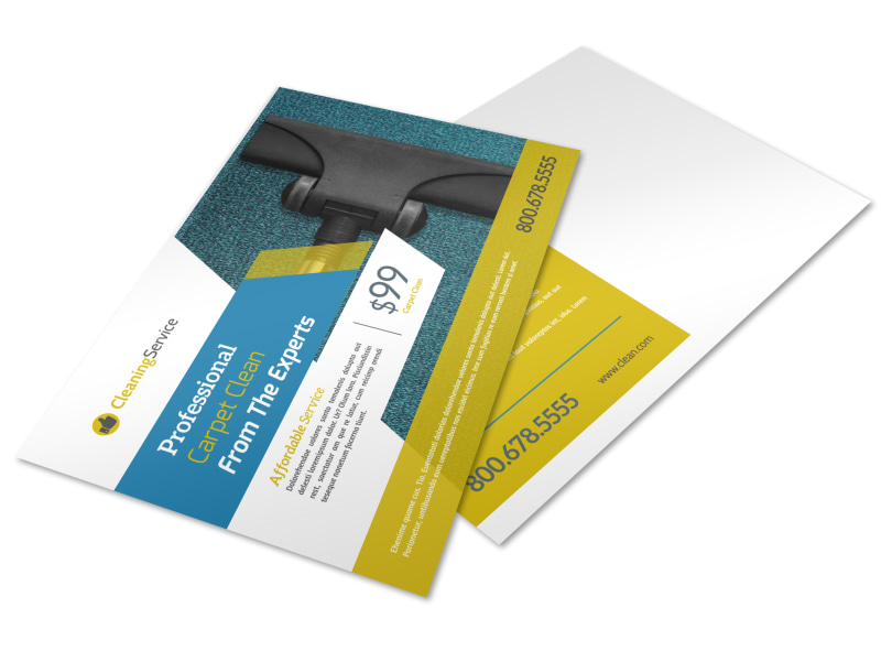 Professional Carpet Cleaning Postcard Template