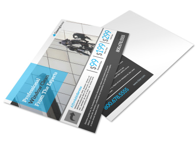 Elite Window Cleaning Postcard Template preview