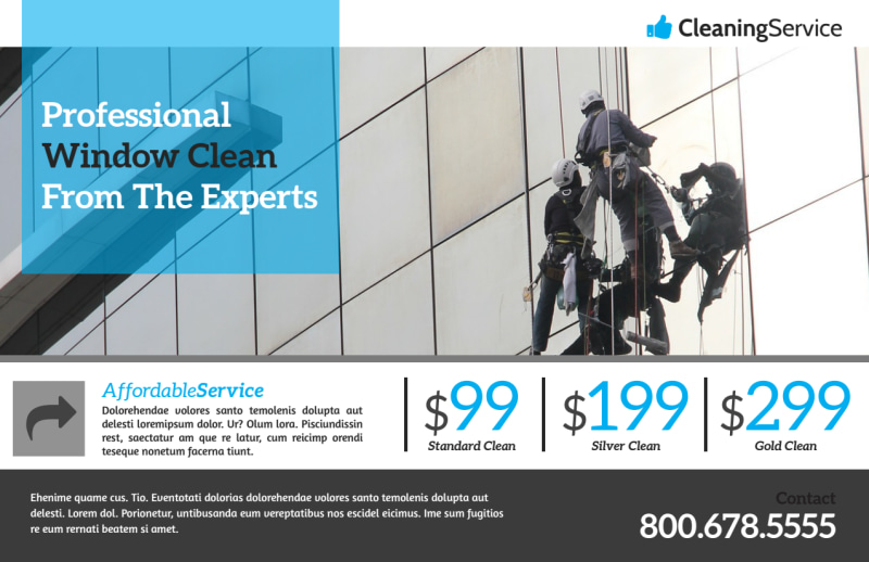 Elite Window Cleaning Postcard Template Preview 2