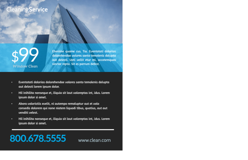 Elite Window Cleaning Postcard Template Preview 3