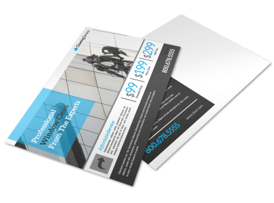 Window Cleaning Postcards Template Preview