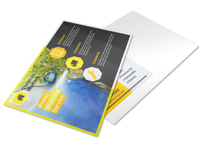Elite Pressure Washing Postcard Template preview