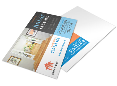 Residential House Cleaning Postcard Template preview