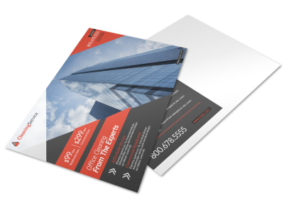 Corporate Office Cleaning Postcard Template preview