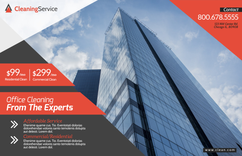 Corporate Office Cleaning Postcard Template Preview 2