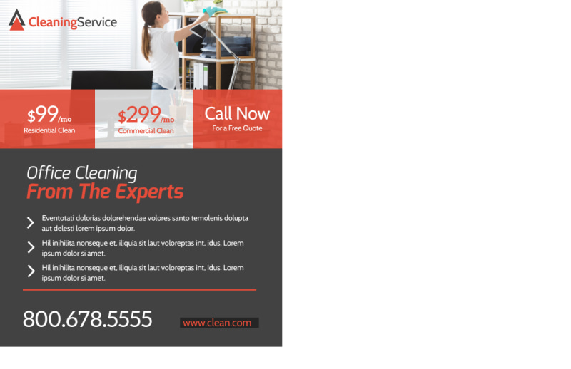 Corporate Office Cleaning Postcard Template Preview 3