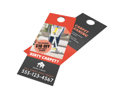 Carpet Cleaning Door Hanger Template preview