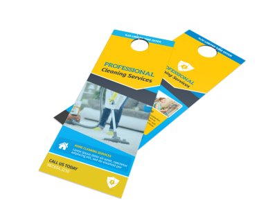 Professional Cleaning Service Door Hanger Template preview