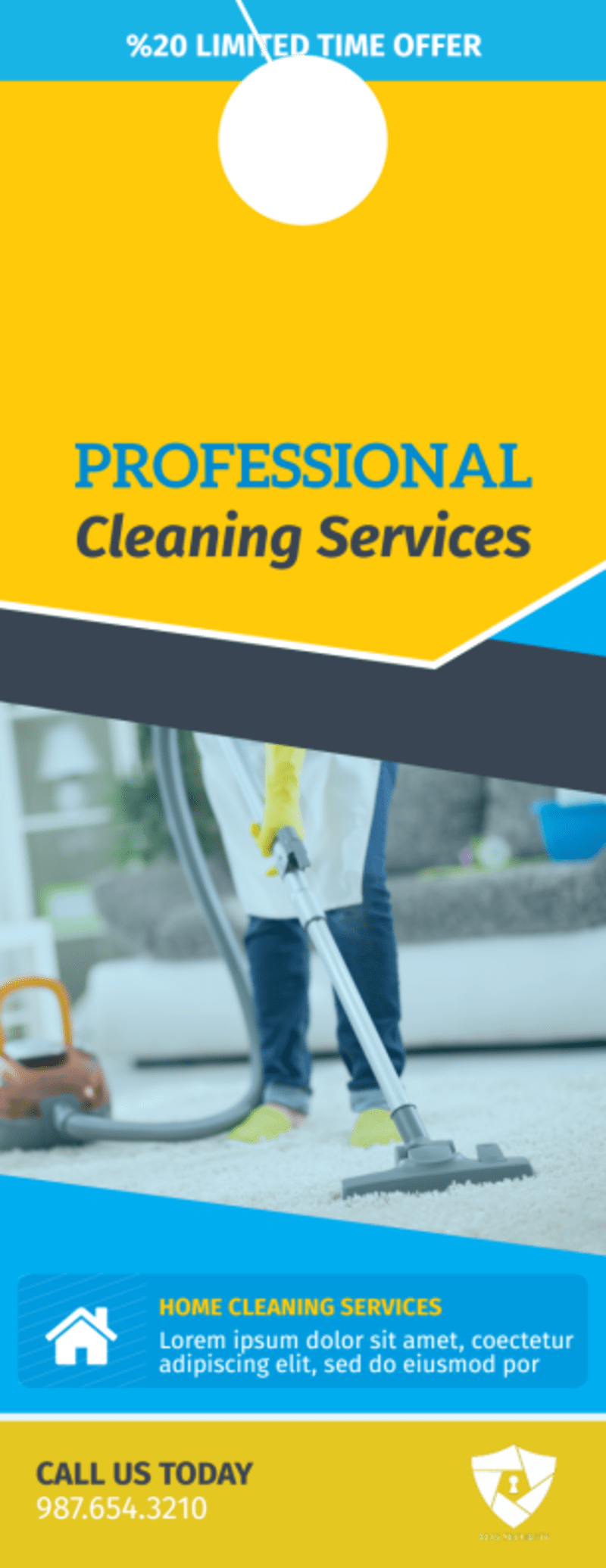 Professional Cleaning Service Door Hanger Template Preview 2