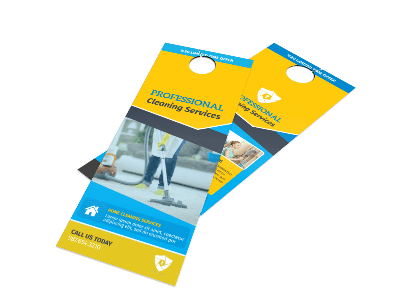 Professional Cleaning Service Door Hanger Template Preview 1