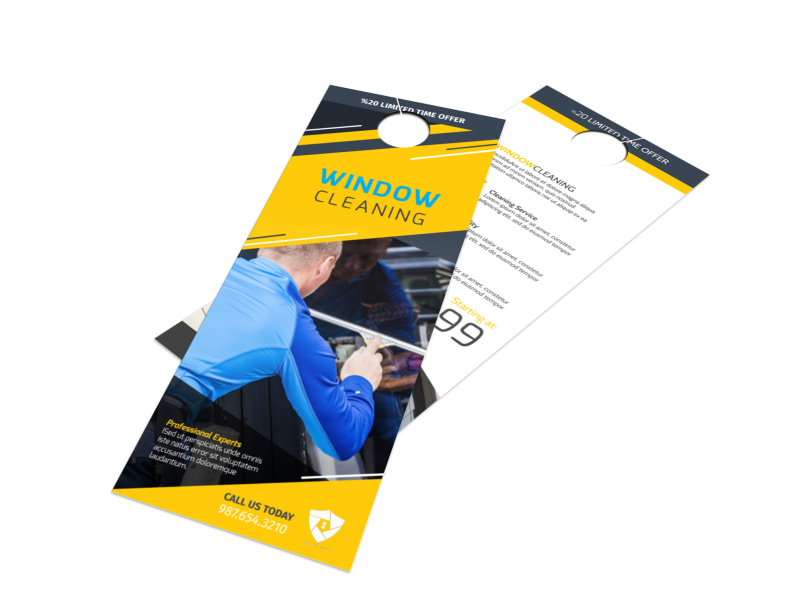 Beau Window Cleaning Door Hanger Template