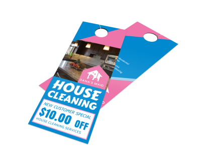 House Cleaning Door Hanger Template preview