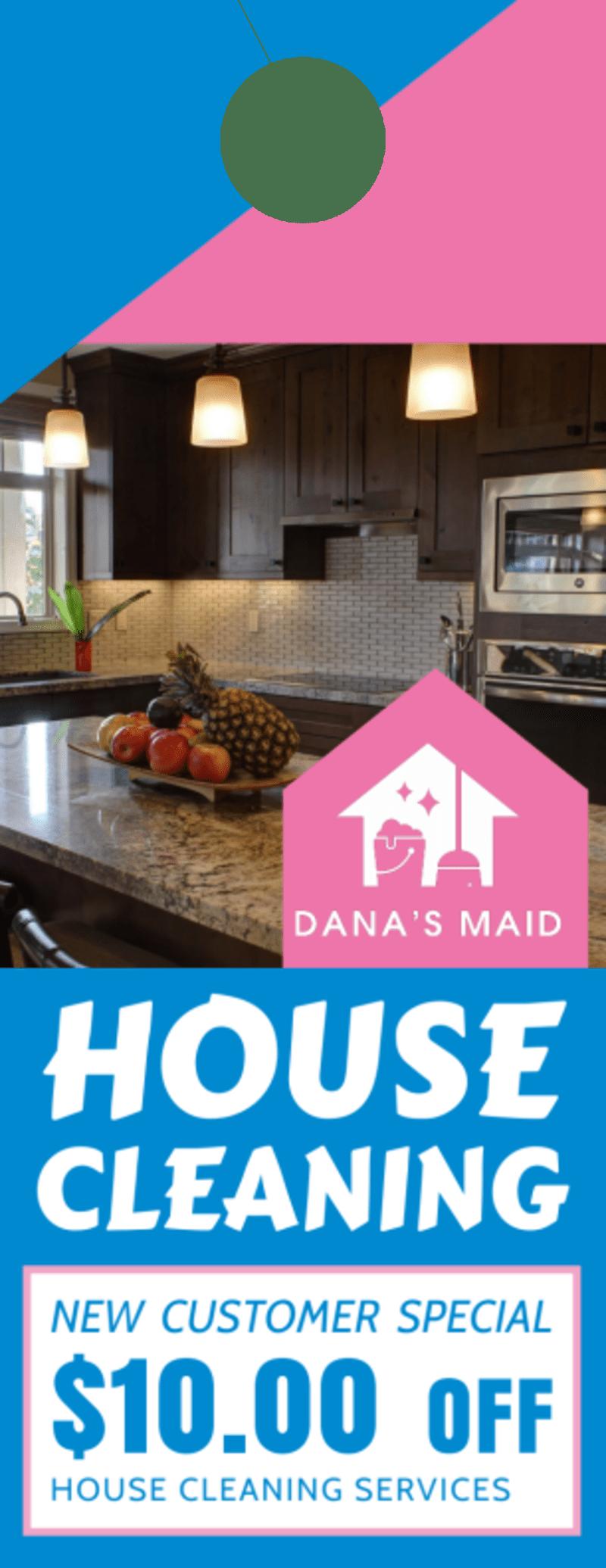 House Cleaning Door Hanger Template Preview 2
