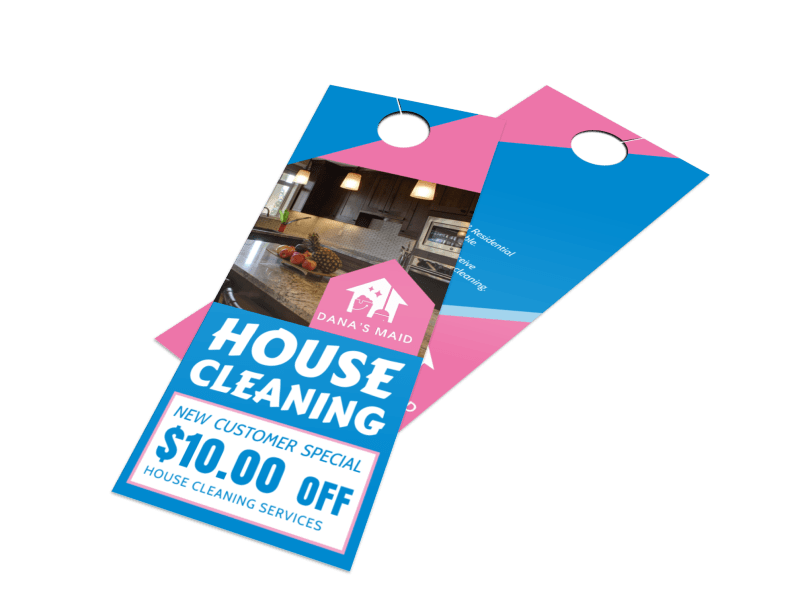 House Cleaning Door Hanger Template Preview 1