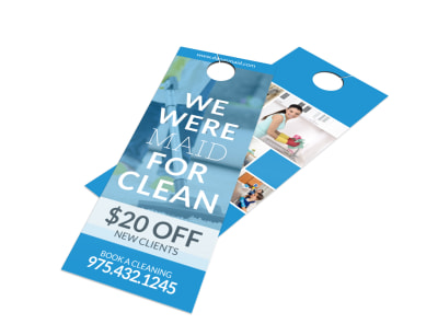 Cleaning Maid Service Door Hanger Template preview