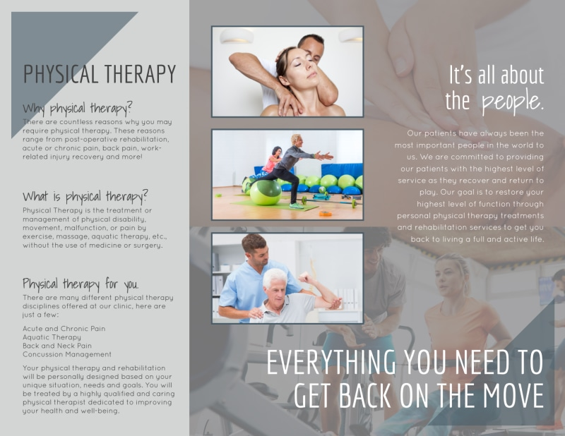 Move Physical Therapy Tri-Fold Brochure Template Preview 3
