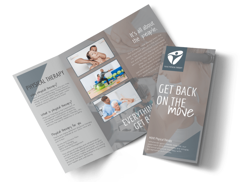 Move Physical Therapy Tri-Fold Brochure Template Preview 1