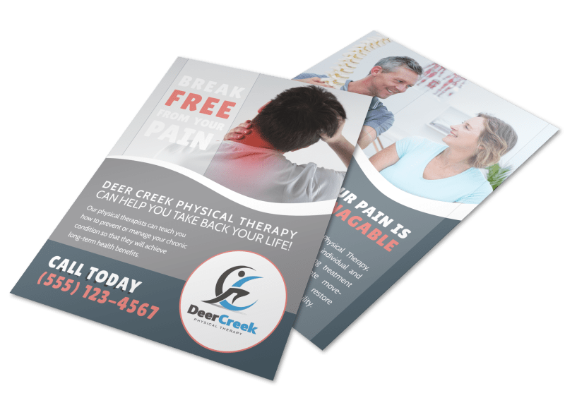 Deer Creek Physical Therapy Flyer Template Preview 1