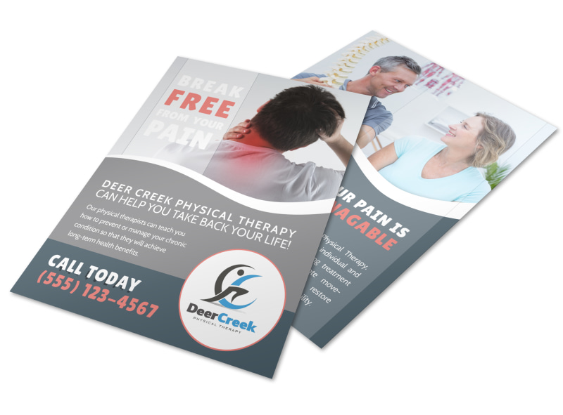 Deer Creek Physical Therapy Flyer Template