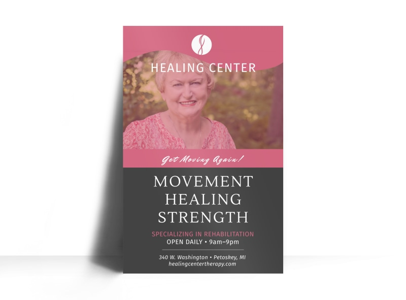 Healing Center Physical Therapy Poster Template