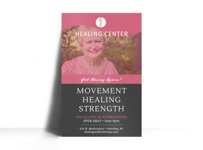 Healing Center Physical Therapy Poster Template preview